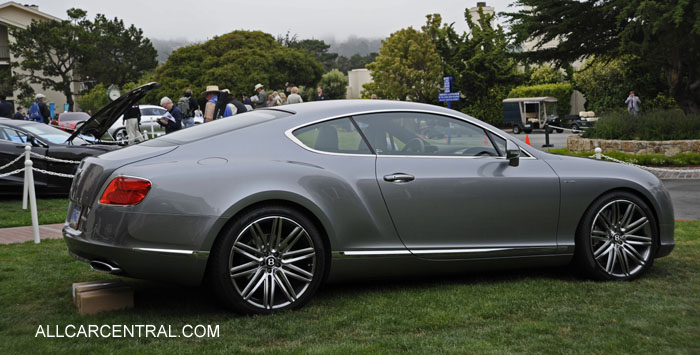 Bentley Continental GT Speed coupe 2013 Pebble Beach Concours d'Elegance 2012