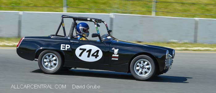 Austin Healy Sprite  CSRG David Love Memorial Vintage Car Road Races 2015