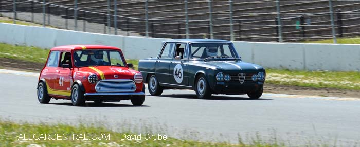 Austin Mini Cooper S 1965 Alfa Romeo Giulia Sprint 1966  CSRG David Love Memorial Vintage Car Road Races 2015