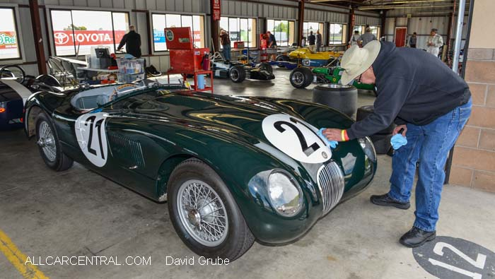 Jaguar C Type 1953  CSRG David Love Memorial Vintage Car Road Races 2015