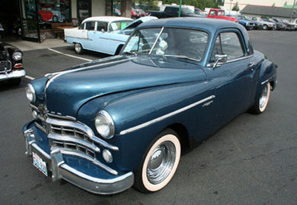 Dodge photographs and technical data all car central for 1950 plymouth 3 window business coupe