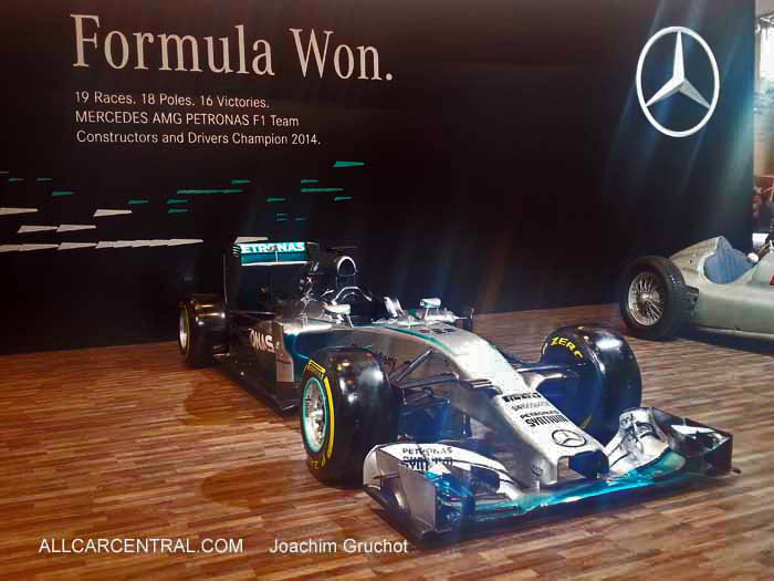 Winning Mercedes-Benz F1 2012 car of Lewis Hamilton. Essen Motor Show 2014