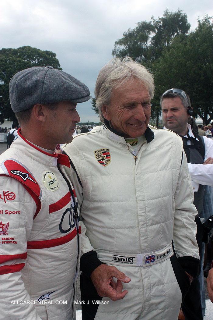 Derek Bell and Tom Kristensen Goodwood Revival 2015