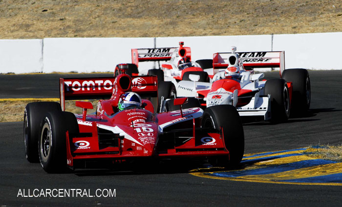 Dario Franchitti, Ryan Briscoe, Helio Castroneves at the S