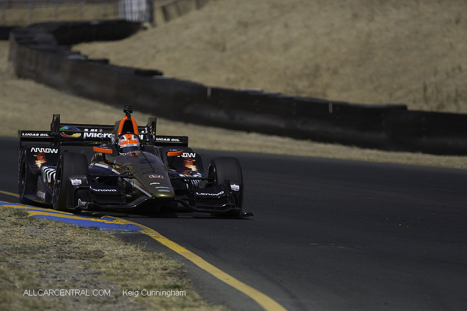 James Hinchcliffe IndyCar GoPro Grand Prix of Sonoma 2016