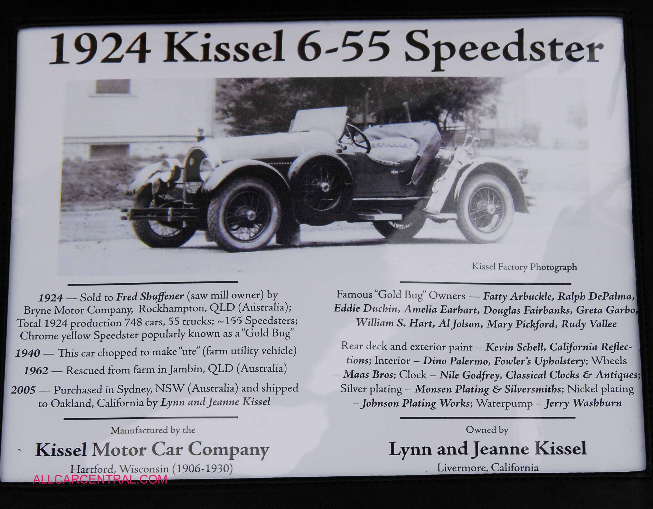 Kissel photographs and Kissel technical data allcarcentral