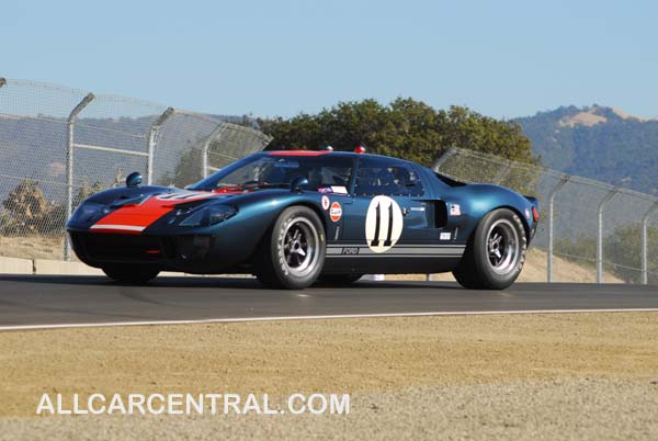 Brain Redman in a 1966 Ford GT-40 Monterey Historic Automobile Races