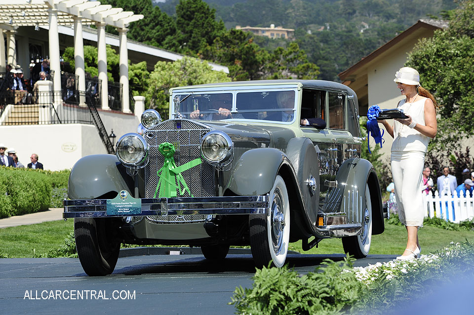 Isotta Fraschini Tipo 8A Castagna Limousine 1929 Pebble Beach Concours d'Elegance 2017