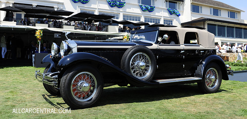 Isotta Fraschini Tipo 8A SS Castagna Cabriolet 1930 Pebble Beach Concours d'Elegance 2017