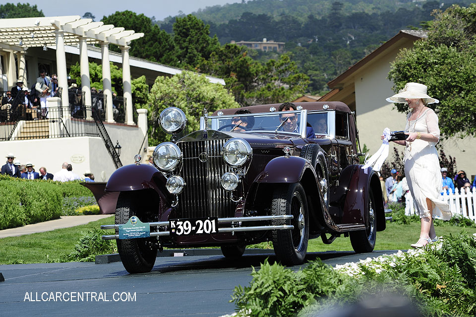 Isotta Fraschini Tipo 8B Viggo Jensen Cabriolet 1931 Pebble Beach Concours d'Elegance 2017