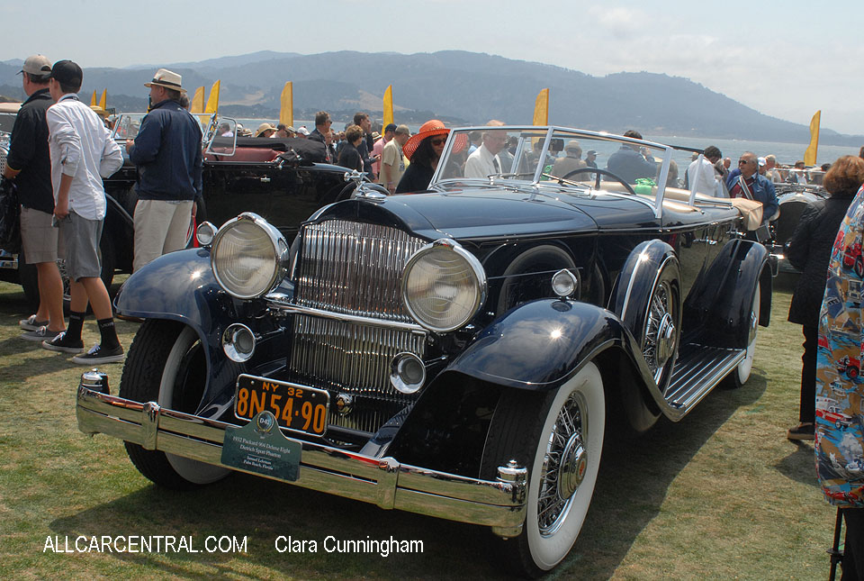 Packard 904 Deluxe Eight Dietrich Sport Phaeton 1932  Clara Cunningham Photo Pebble Beach Concours d'Elegance 2017
