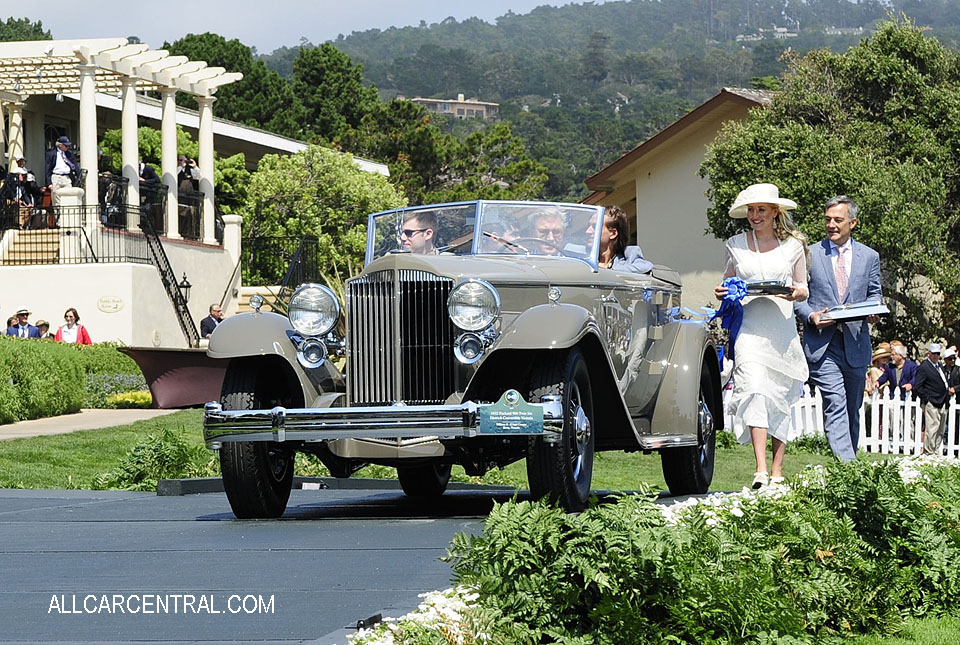 Packard 906 Twin Six Dietrich Convertible Victoria 1932 Pebble Beach Concours d'Elegance 2017
