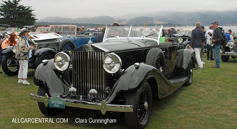 Rolls-Royce Phantom III Inskip Convertible Roadster 1937  Clara Cunningham Photo Pebble Beach Concours d'Elegance 2017