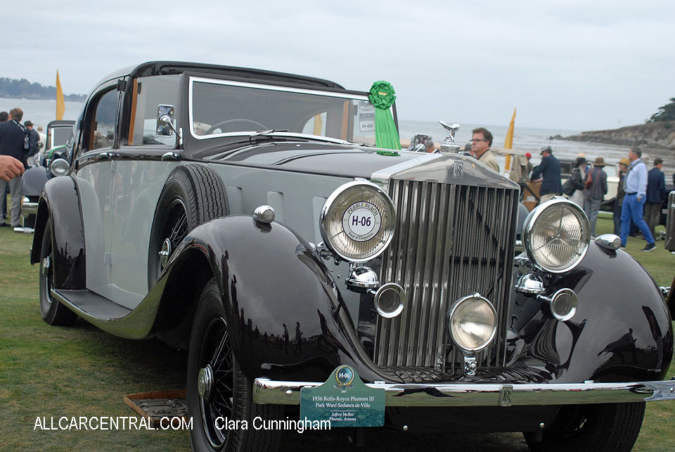 Rolls-Royce Phantom III Park Ward Sedanca de Ville 1936  Clara Cunningham Photo Pebble Beach Concours d'Elegance 2017