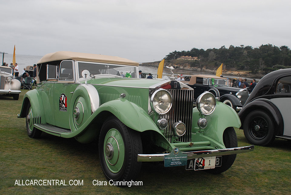 Rolls-Royce Phantom II Continental Barker Tourer 1933  Clara Cunningham Photo Pebble Beach Concours d'Elegance 2017