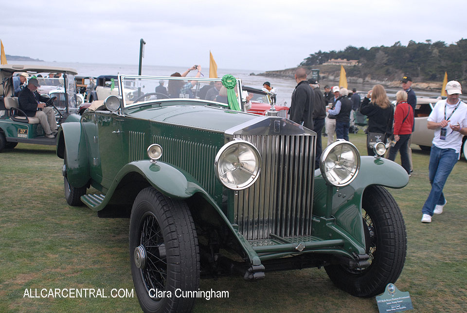 Rolls-Royce Phantom II Continental James Young Tourer 1932  Clara Cunningham Photo Pebble Beach Concours d'Elegance 2017