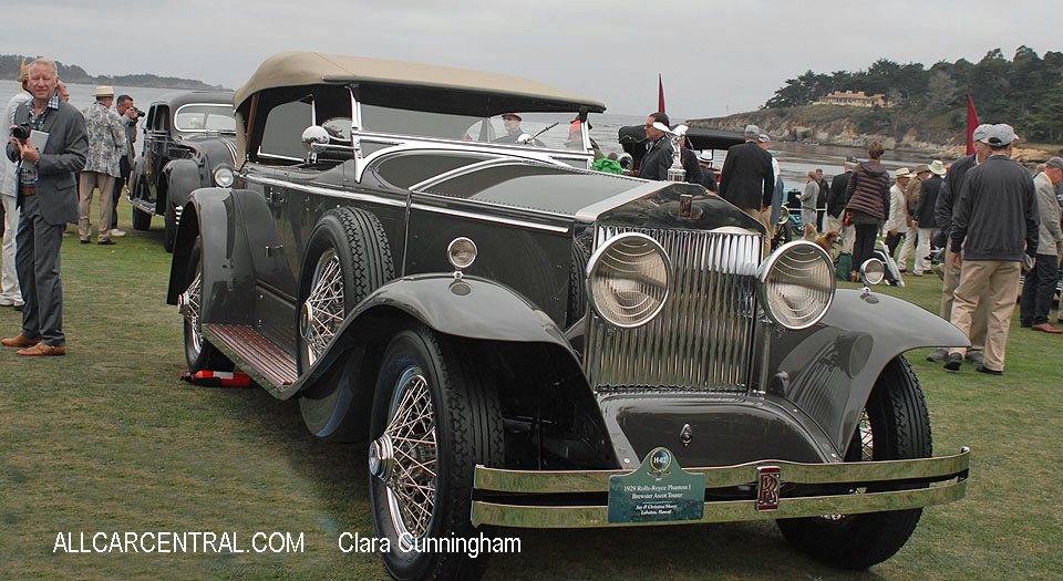 Rolls-Royce Phantom I Brewster Ascot Tourer 1929  Clara Cunningham Photo Pebble Beach Concours d'Elegance 2017