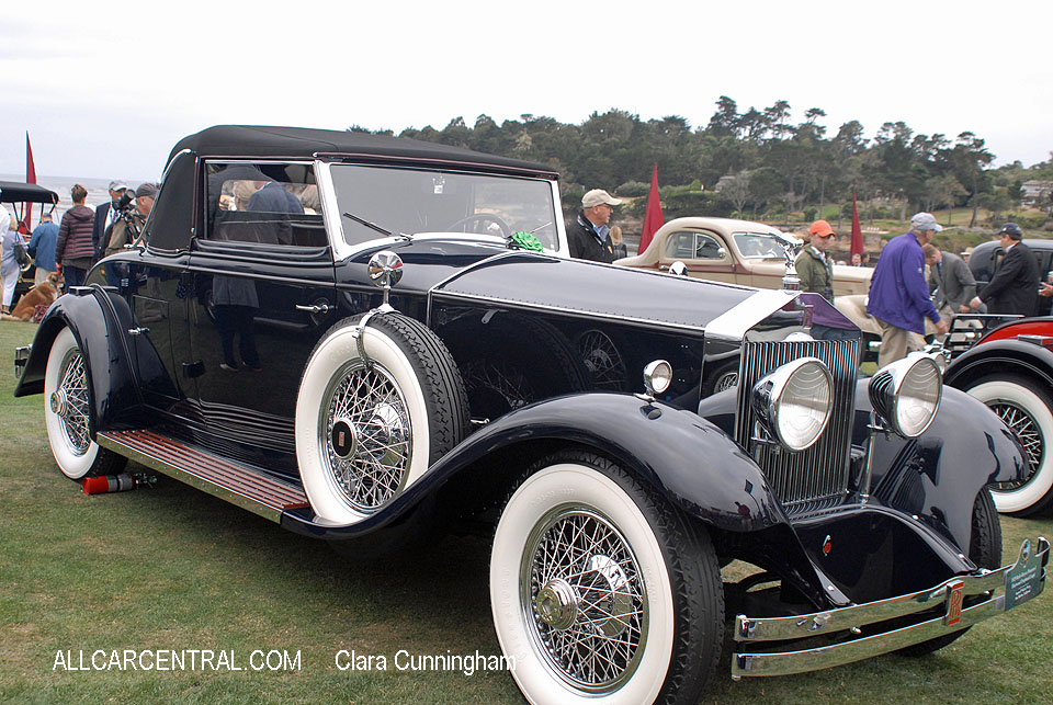 Rolls-Royce Phantom I Fleetwood Drophead Coupe 1929  Clara Cunningham Photo Pebble Beach Concours d'Elegance 2017