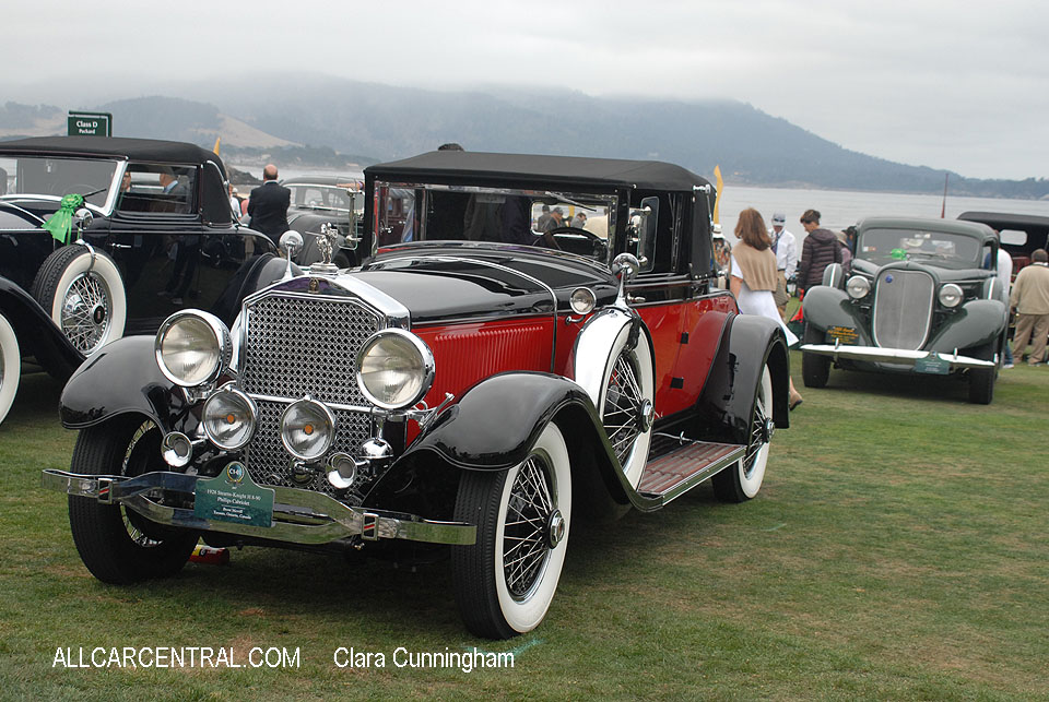 Stearns-Knight H 8-90 Phillips Cabriolet 1928  Clara Cunningham Photo Pebble Beach Concours d'Elegance 2017