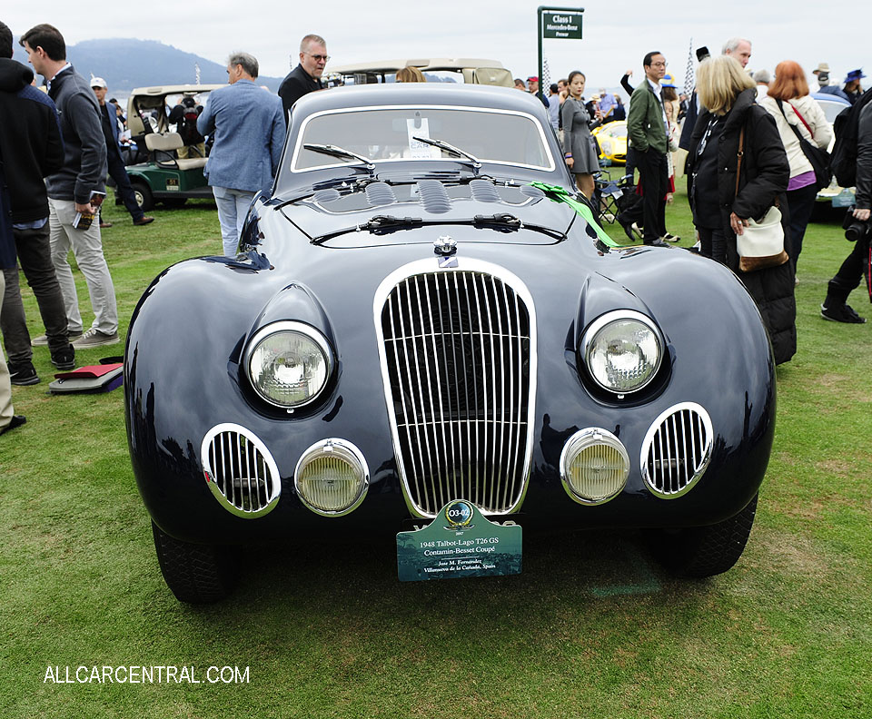 Talbot-Lago T26 GS Contamin-Besset Coupe sn-110105 1948 Pebble Beach Concours d'Elegance 2017