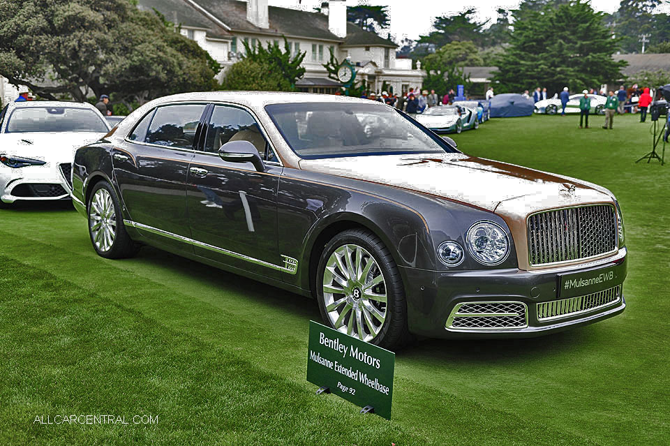 Bentley Mulsanne Extended WB 2016 Pebble Beach Concours d'Elegance
