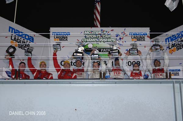 Audi Sport North America Team P1 1st Place Season Finale, American Le Mans Series 2008