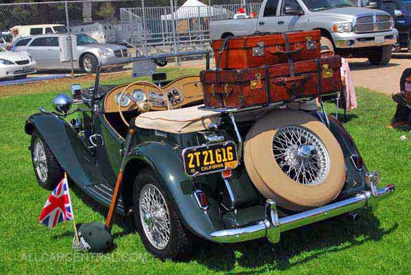 Pictures of 1952 Red MG TD For